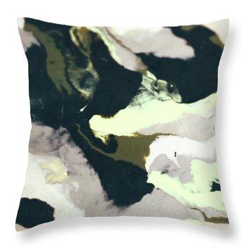 Abstract Camo Throw Pillow