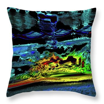 Abstract Carriage Ride Throw Pillow