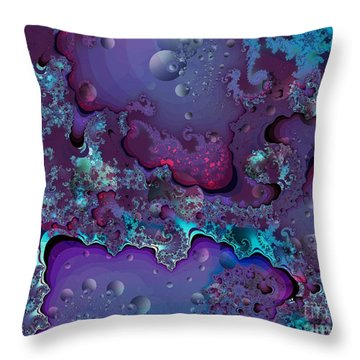Abstract Chaotic Throw Pillow by Michelle H
