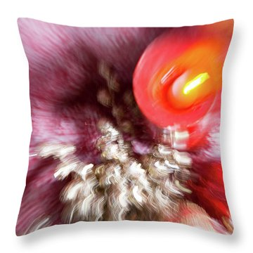Throw Pillow featuring the photograph Abstract Christmas 4 by Rebecca Cozart