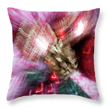 Throw Pillow featuring the photograph Abstract Christmas 5 by Rebecca Cozart