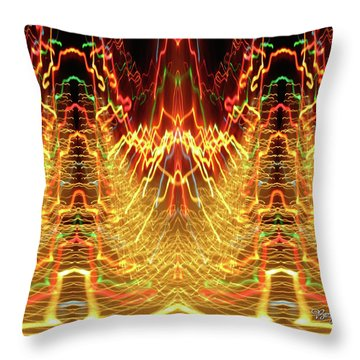 Abstract Christmas Lights #175 Throw Pillow by Barbara Tristan