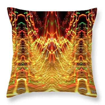 Abstract Christmas Lights #175 Throw Pillow