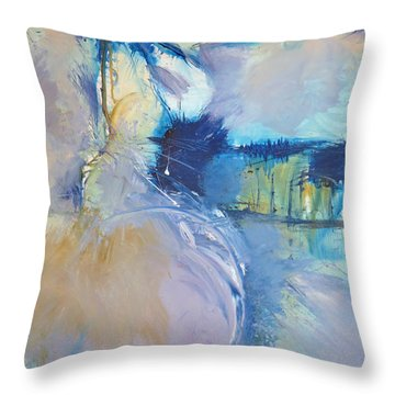 Abstract Circular Motions Throw Pillow by John Fish