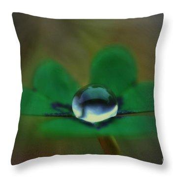 Abstract Clover Throw Pillow