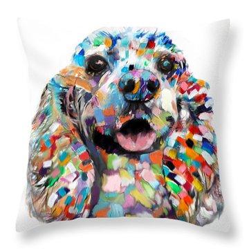 Abstract Cocker Spaniel Throw Pillow