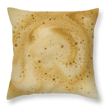 Throw Pillow featuring the photograph Abstract Coffee by Brian Roscorla