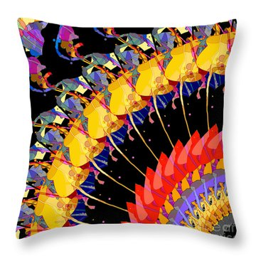 Throw Pillow featuring the digital art Abstract Collage Of Colors by Phil Perkins