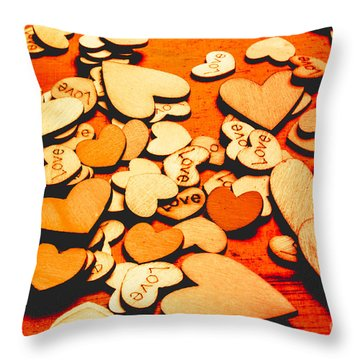 Abstract Collective Connection Throw Pillow