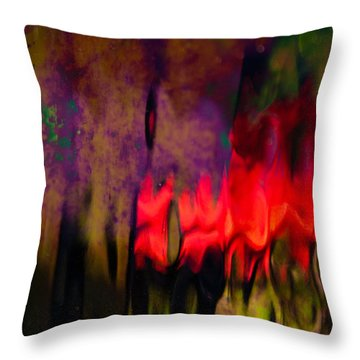 Throw Pillow featuring the photograph Abstract Color by Erin Kohlenberg