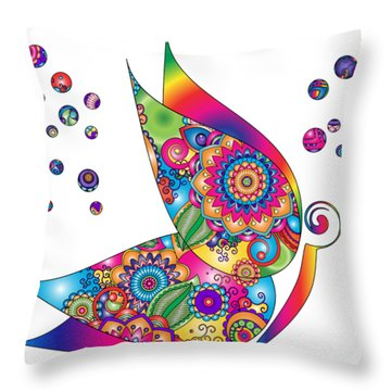 Abstract Colorful Butterfly Throw Pillow