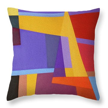 Abstract Composition 7 Throw Pillow