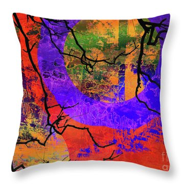 Abstract Configuration Throw Pillow by Robert Ball