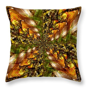 Abstract Cornfield 1 Throw Pillow