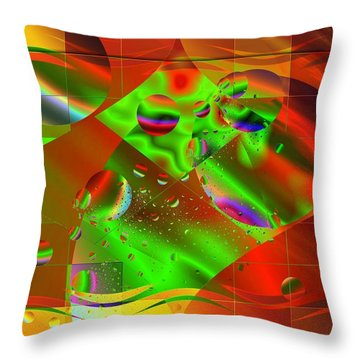 Abstract Covers Throw Pillow by Mario Carini