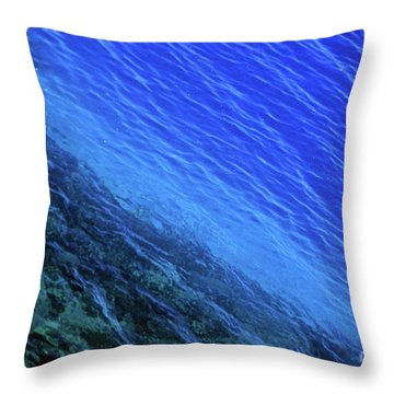Abstract Crater Lake Blue Water Throw Pillow