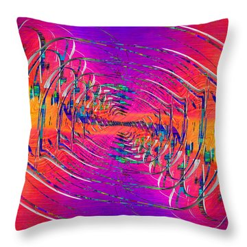 Abstract Cubed 319 Throw Pillow