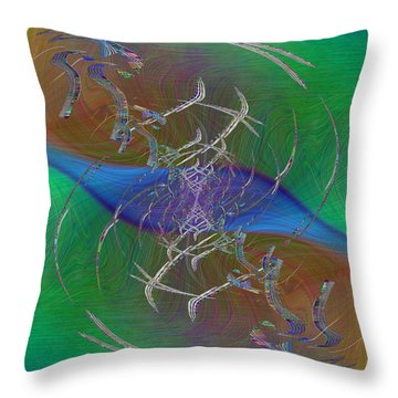 Abstract Cubed 321 Throw Pillow