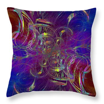Abstract Cubed 322 Throw Pillow
