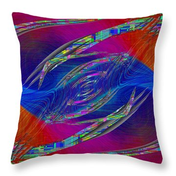 Abstract Cubed 323 Throw Pillow