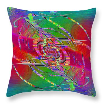 Abstract Cubed 327 Throw Pillow