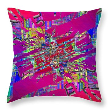 Abstract Cubed 329 Throw Pillow