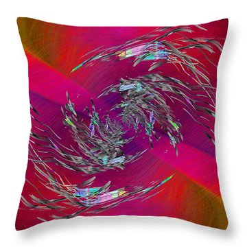 Abstract Cubed 332 Throw Pillow