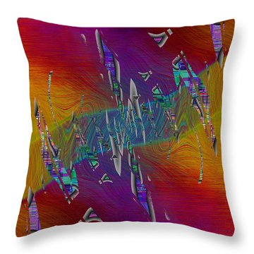 Abstract Cubed 333 Throw Pillow
