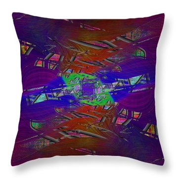 Abstract Cubed 334 Throw Pillow
