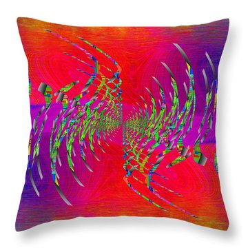 Abstract Cubed 335 Throw Pillow