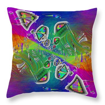 Abstract Cubed 339 Throw Pillow