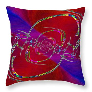 Abstract Cubed 341 Throw Pillow