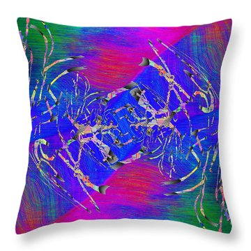 Abstract Cubed 343 Throw Pillow