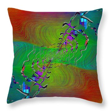 Abstract Cubed 345 Throw Pillow