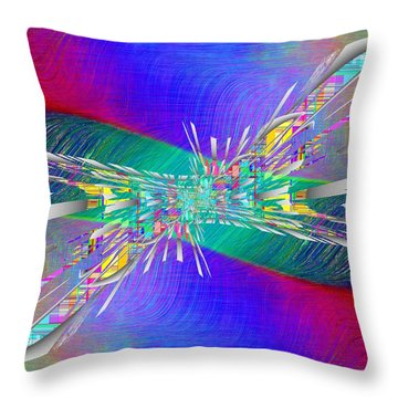 Abstract Cubed 346 Throw Pillow