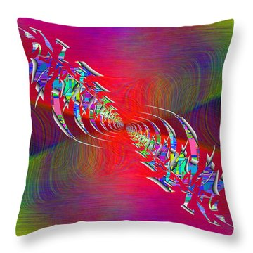 Abstract Cubed 347 Throw Pillow