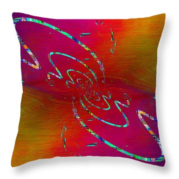 Abstract Cubed 348 Throw Pillow
