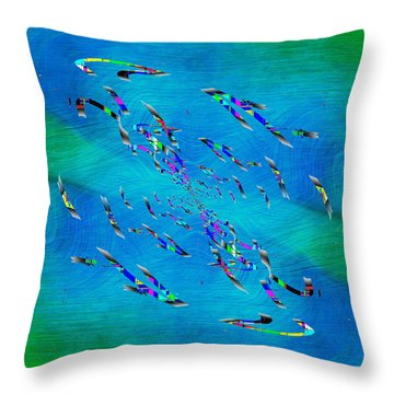 Abstract Cubed 349 Throw Pillow