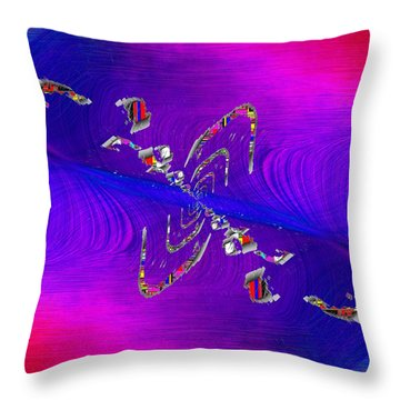 Throw Pillow featuring the digital art Abstract Cubed 350 by Tim Allen