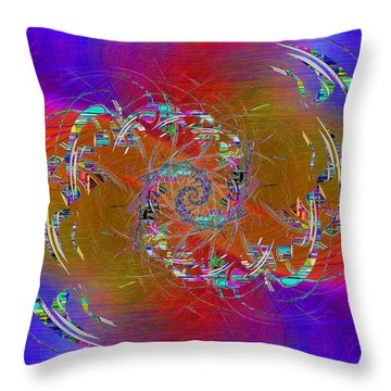 Throw Pillow featuring the digital art Abstract Cubed 351 by Tim Allen