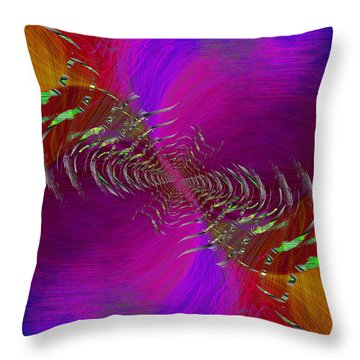 Throw Pillow featuring the digital art Abstract Cubed 352 by Tim Allen