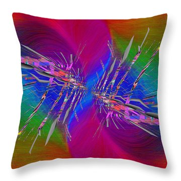 Throw Pillow featuring the digital art Abstract Cubed 353 by Tim Allen