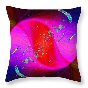Abstract Cubed 354 Throw Pillow