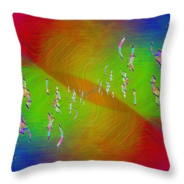 Throw Pillow featuring the digital art Abstract Cubed 355 by Tim Allen