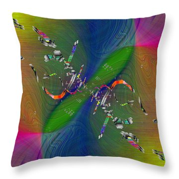 Throw Pillow featuring the digital art Abstract Cubed 356 by Tim Allen