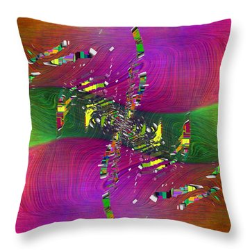 Abstract Cubed 357 Throw Pillow