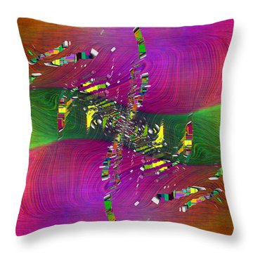 Throw Pillow featuring the digital art Abstract Cubed 357 by Tim Allen