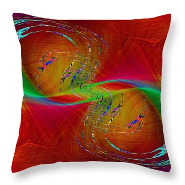 Throw Pillow featuring the digital art Abstract Cubed 358 by Tim Allen