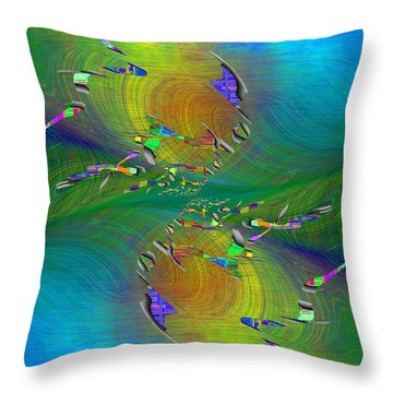 Abstract Cubed 359 Throw Pillow
