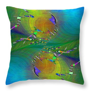 Throw Pillow featuring the digital art Abstract Cubed 359 by Tim Allen